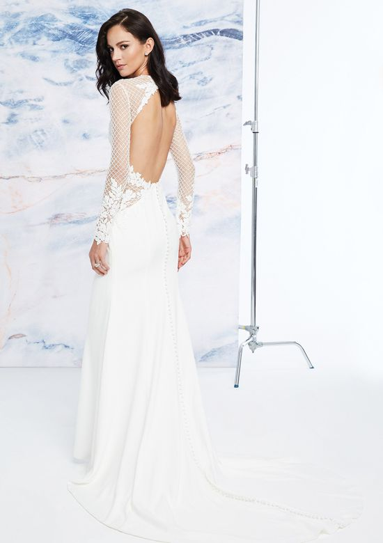 Justin Alexander Signature Style 99072 Fit and Flare Dress with Beaded Bodice