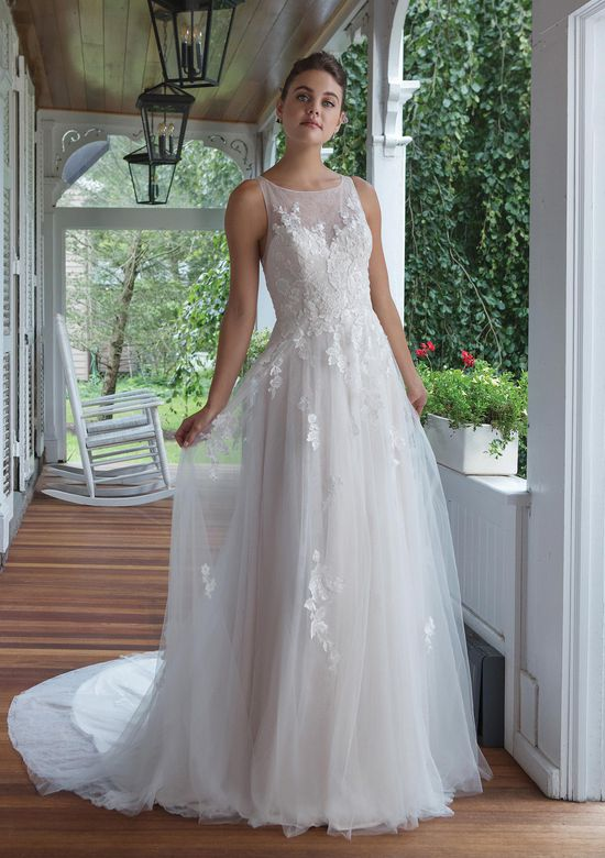 Sweetheart Gowns Style 11088 A-line Gown with Allover Lace and Venice Applique