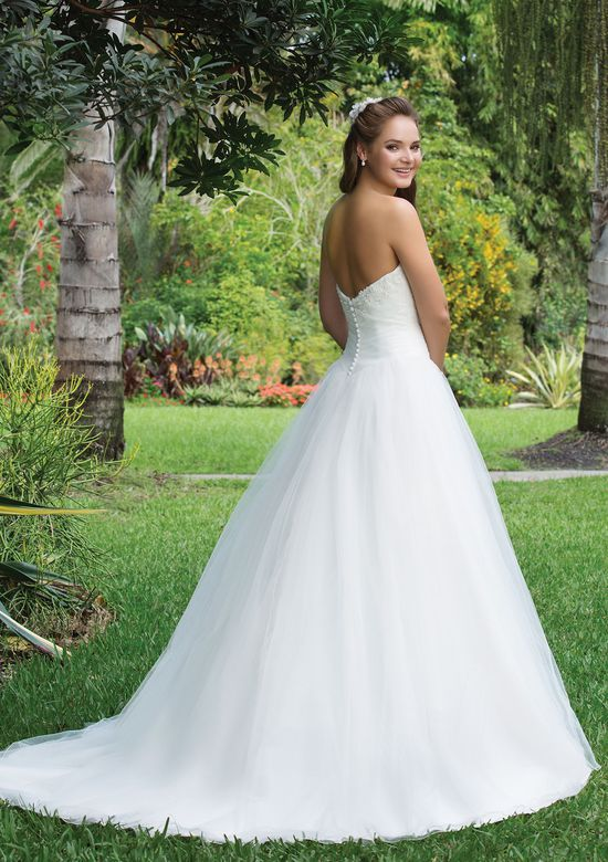 Sweetheart Gowns Style 6106 Beaded Lace, Tulle Ball gown adorned with a Sweetheart neckline
