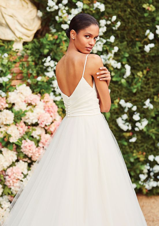 Sincerity Bridal Style 44181 Satin and Tulle Ball Gown with Pleated Waistband
