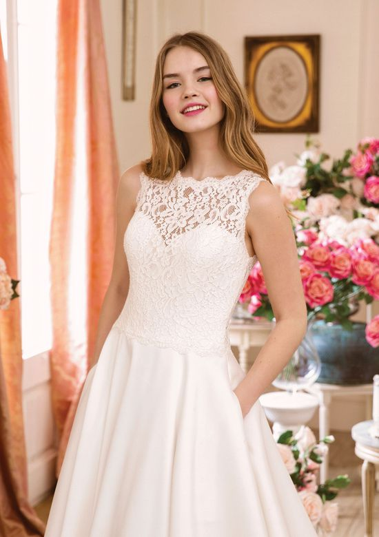 Sweetheart Gowns Style 1136 Corded Lace and Mikado Dress with Pockets