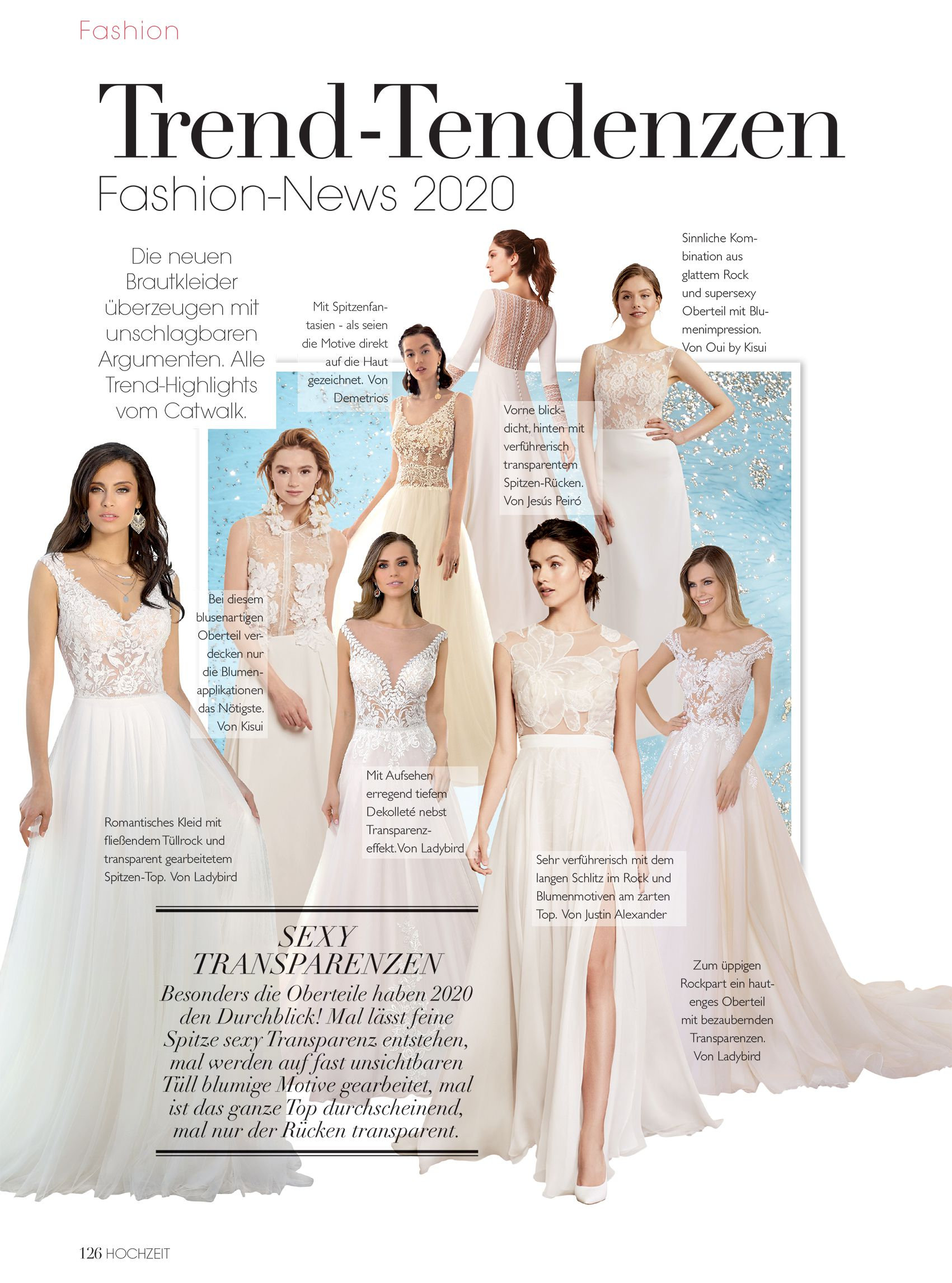 Justin Alexander Signature Style Linnea featured in Hochzeit magazine