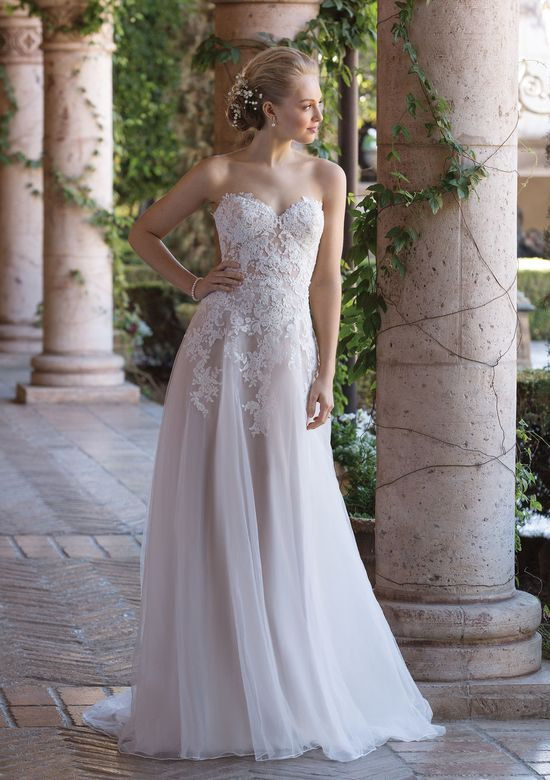 Sincerity Bridal Style 4026 Sweetheart A-Line Gown with Sequined Lace Appliques