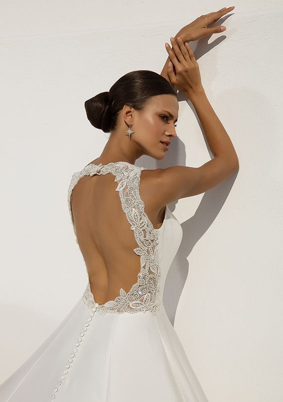 Justin Alexander 	Style 88021 | Mikado Ball Gown with Beaded Cut Out Back