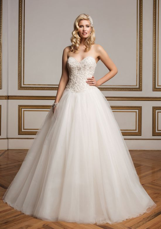 Justin Alexander Style 8842 Beaded Sweetheart Bodice and Tulle Skirt Ball Gown