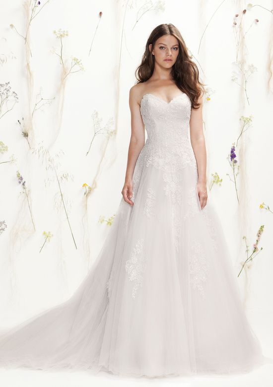 Lillian West Style 6394 Beaded Lace A-Line Gown with Sweetheart Neckline