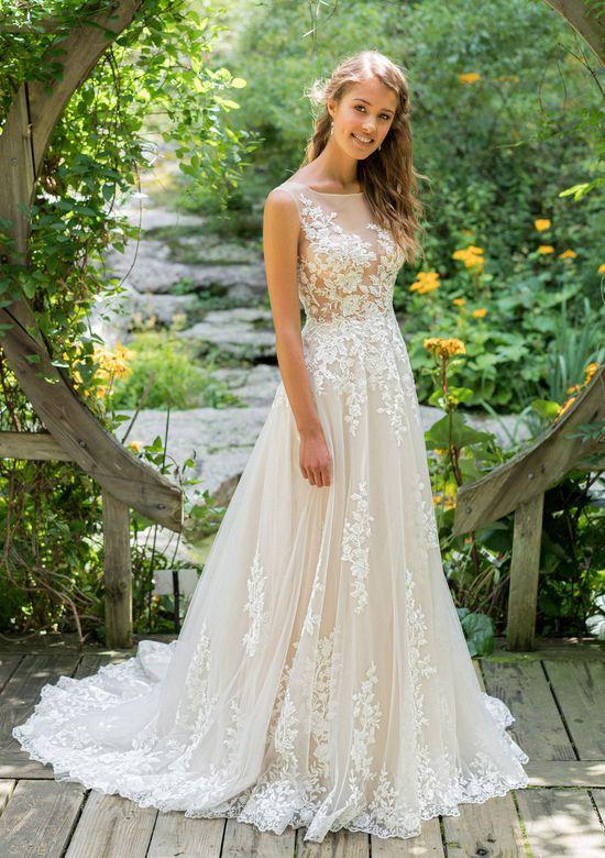 Vestiti Da Sposa Trasparenti.Stile 66024 Abito Da Sposa Svasato Trasparente Con Applicazioni