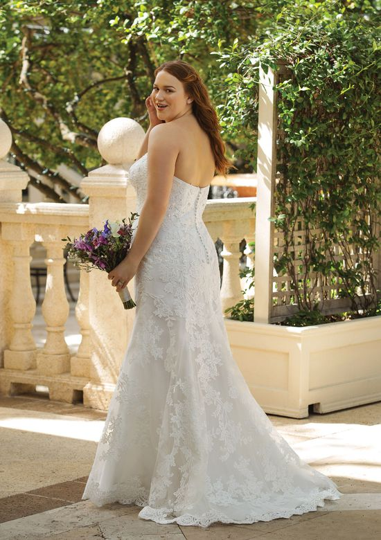 Sincerity Bridal Style 44064 Allover Lace Sweetheart Neckline Fit and Flare
