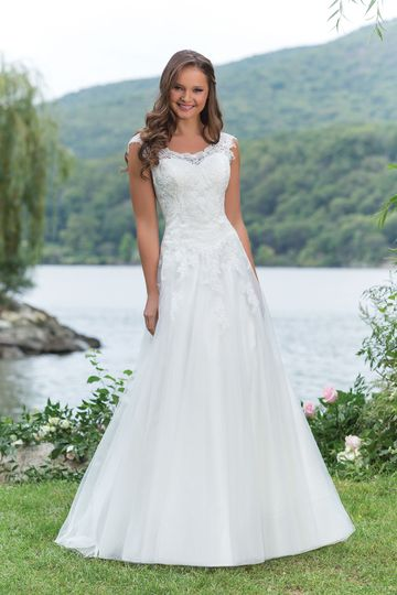 Sweetheart Gowns Style 6143 Corded Lace Ball Gown with Scoop Neckline