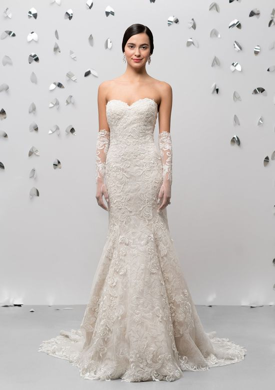 Justin Alexander Signature Style 99018G Tulle and Lace Gloves