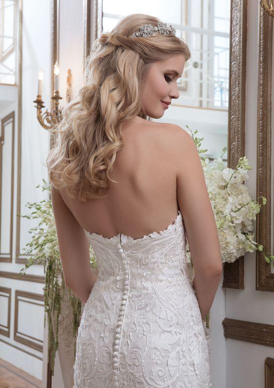 Justin Alexander Style 8795 Laser Cut Appliqué Organza Fit and Flare Wedding Dress