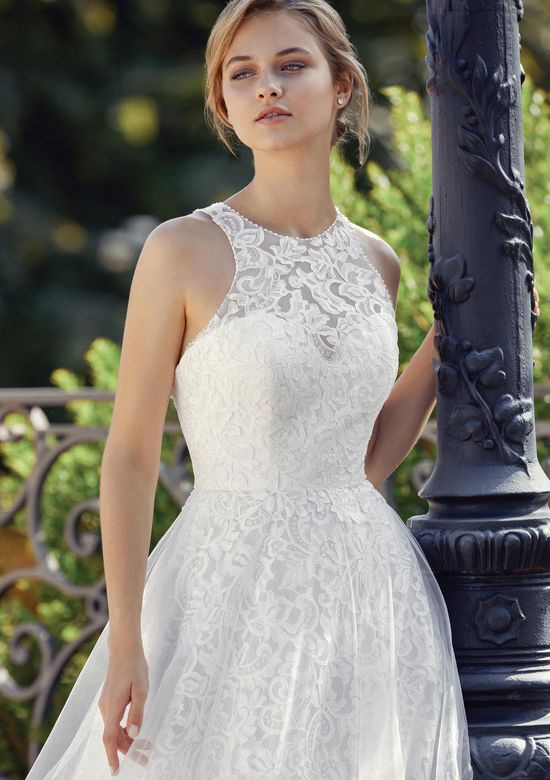 Sincerity Bridal Style 44111 Allover Lace A-Line Dress with Racer Back Detail