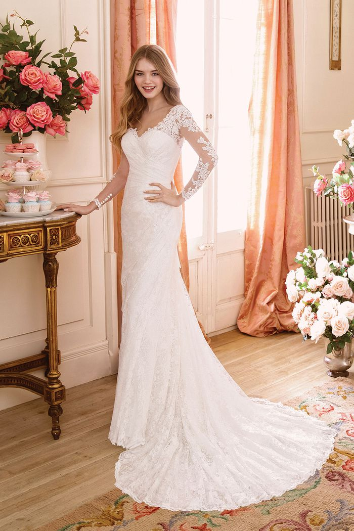 Sweetheart style 11086 Long Sleeve Corset Back Gown