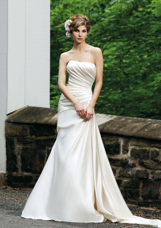Sincerity Bridal Style 3622 Strapless satin A-line dress