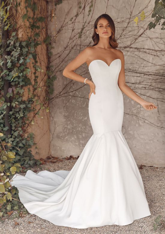 Justin Alexander Style 88139 Anne Sweetheart Luxe Satin Mermaid Gown