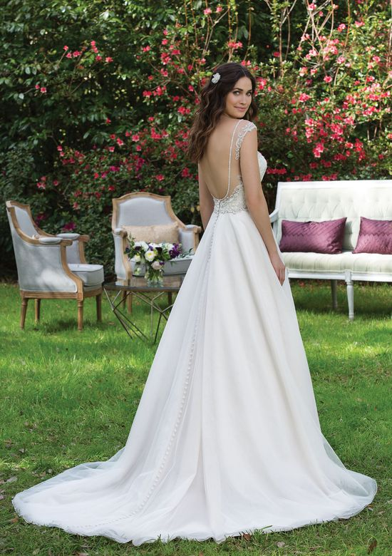 Sincerity Bridal Style 3943 Beaded Lace A-line Gown with Sabrina Neckline