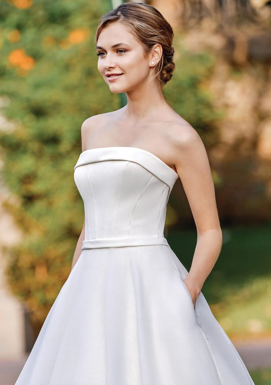Sincerity Bridal Style 44128 Satin and Organza Ball Gown