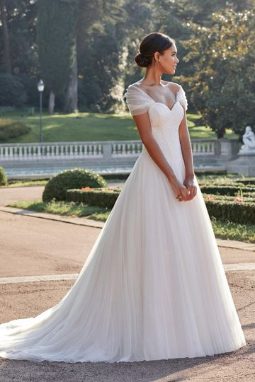 Sincerity Bridal Style 44134 English Net Ball Gown with Lace Bodice