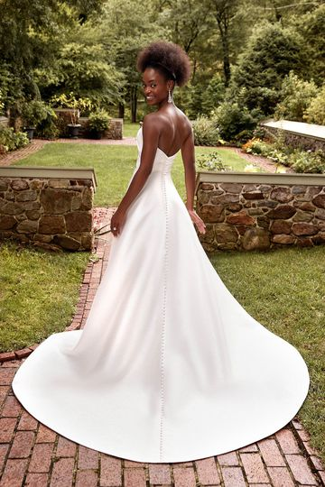 Sincerity Bridal Style 44277 Strapless Sweetheart Mikado Ball Gown with Pleated Bodice