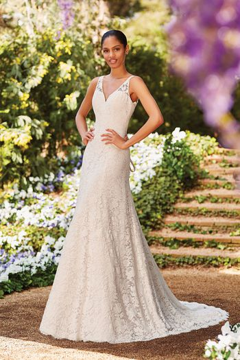 Sincerity Bridal Style 44178 Allover Alençon Lace A-Line Gown