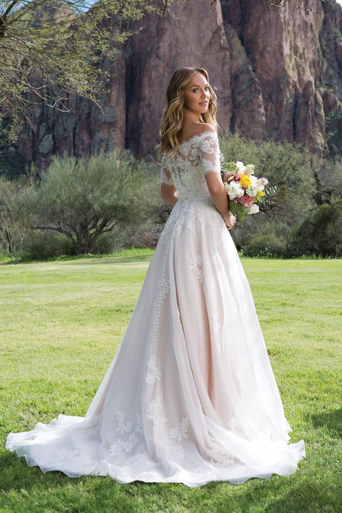 Sweetheart Gowns Corded and Beaded Lace A-Line Gown with Jacket