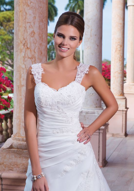 Sweetheart Gowns Style 6040 Organza A-Line Gown with Straps