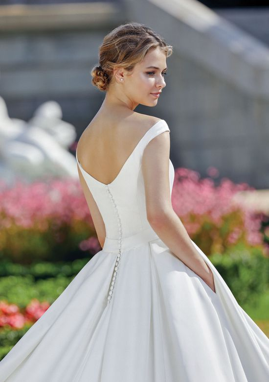 Sincerity style 44122 Portrait Off the Shoulder Neckline Clean Ball Gown
