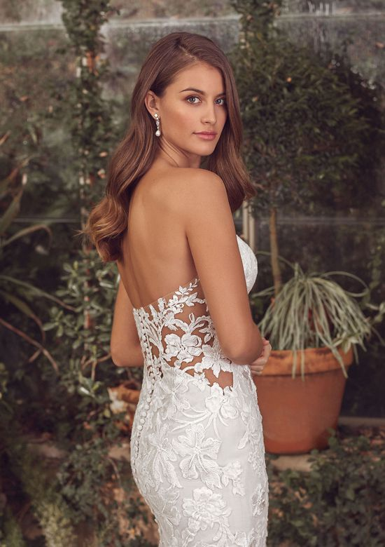 Justin Alexander Style 88154 Amor Sweetheart Fit and Flare Gown with Cotton Lace and Horsehair Hem