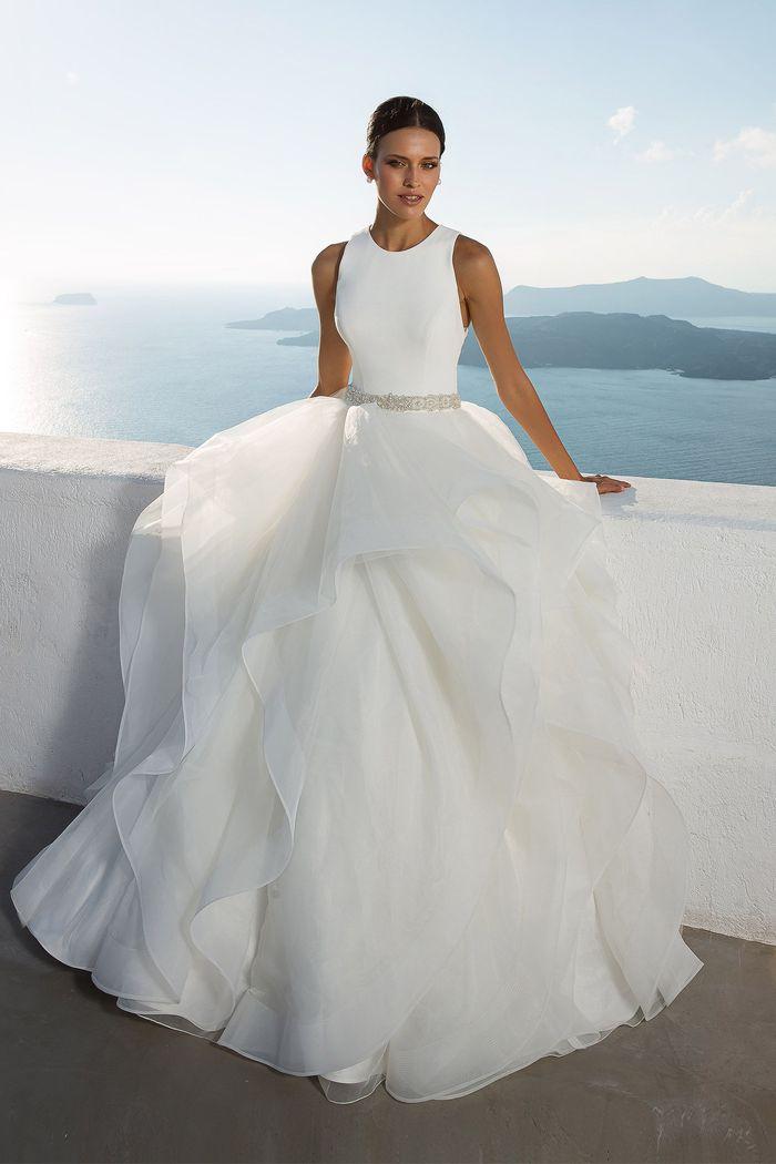 Justin Alexander Style 88023B Elegant Crystal Belt