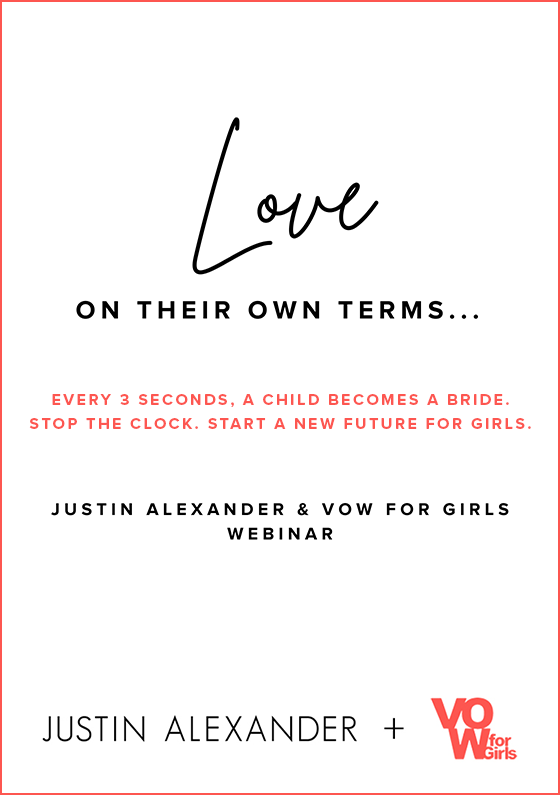 Justin Alexander And Vow For Girls Partnership