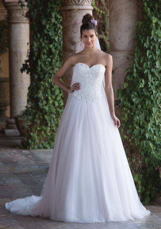 Sincerity Bridal Style 4034 Beaded Lace Sweetheart Ball Gown