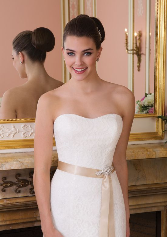 Sweetheart Gowns Style 6008 Strapless Allover Lace Dress