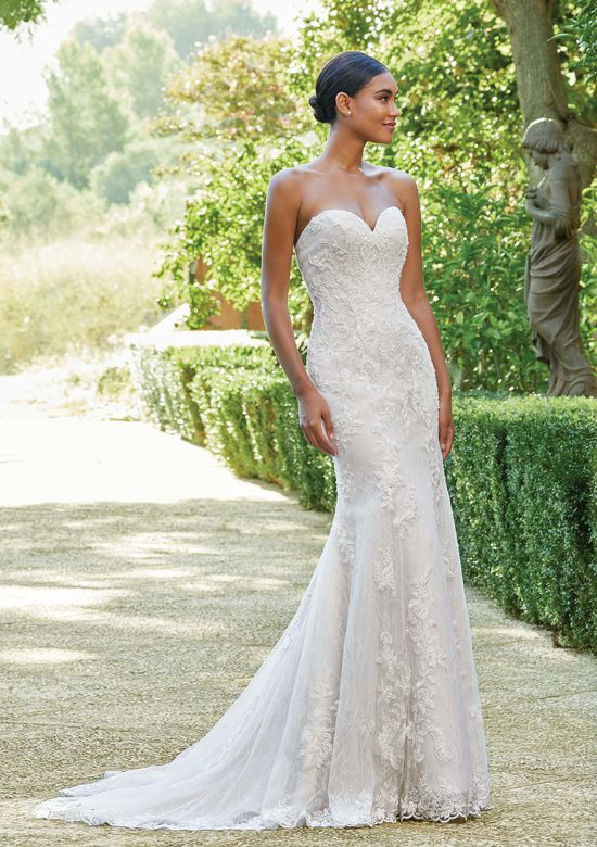 Sincerity Bridal Style 44212 Allover Lace Strapless Gown