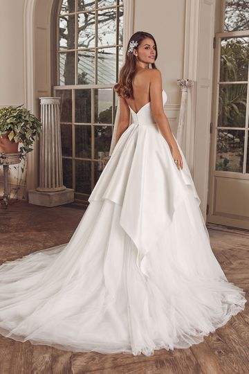 Justin Alexander Style 88152 Adonia Silk Dupion Sweetheart Ball Gown with Apron Tulle Skirt