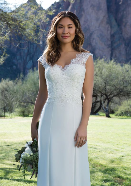 Sweetheart Gowns Style 1125 Romantic Lace and Chiffon Gown with Scalloped Low Back
