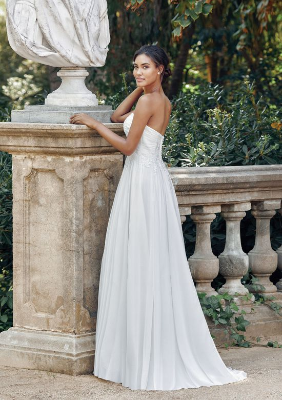 Sincerity Bridal Style 44115D Strapless Chiffon and Beaded Lace Gown