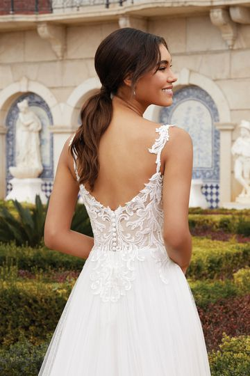 Sincerity Bridal Style 44247 Beaded Lace and English Net A-Line Gown