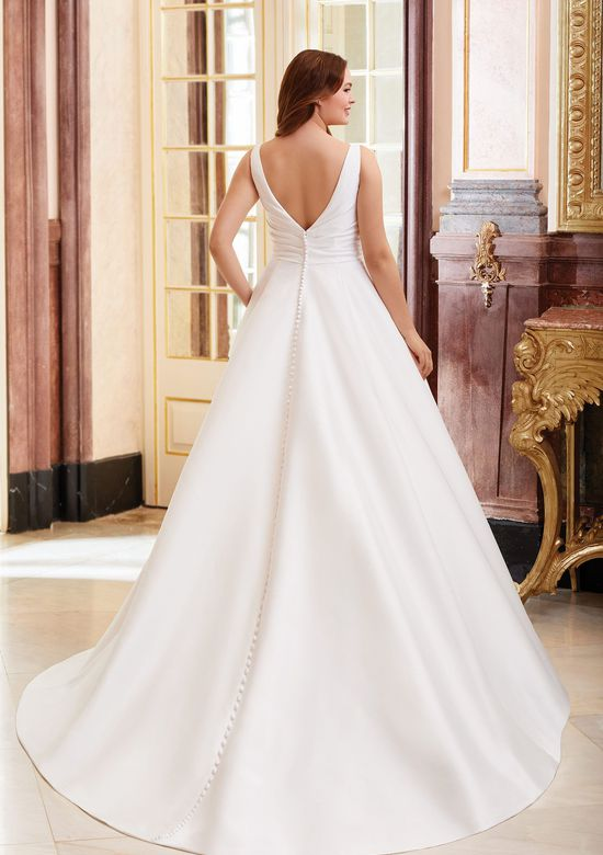 Sincerity Bridal Style 44080 Asymmetric Draped Ball Gown with Pockets