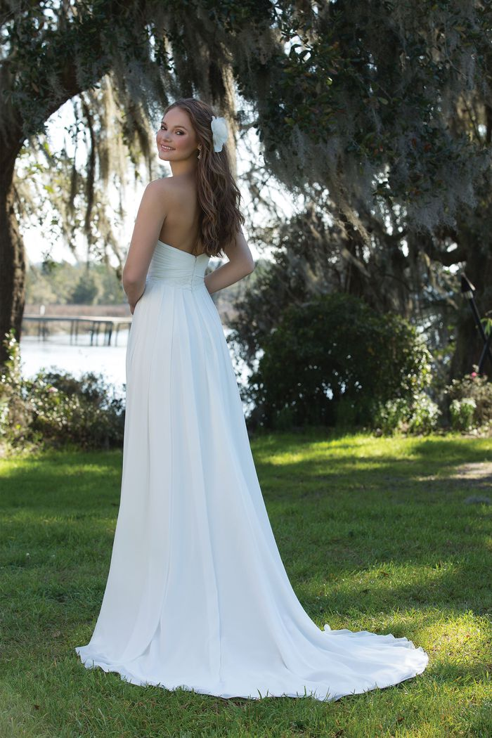Sweetheart Gowns Style 6184 Grecian Draped Strapless Gown with Empire Waist