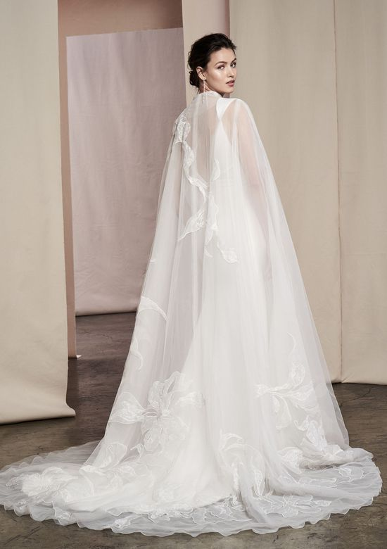 Justin Alexander Signature Style 99095C Kalina Cape Cape with Large Floral Patchwork