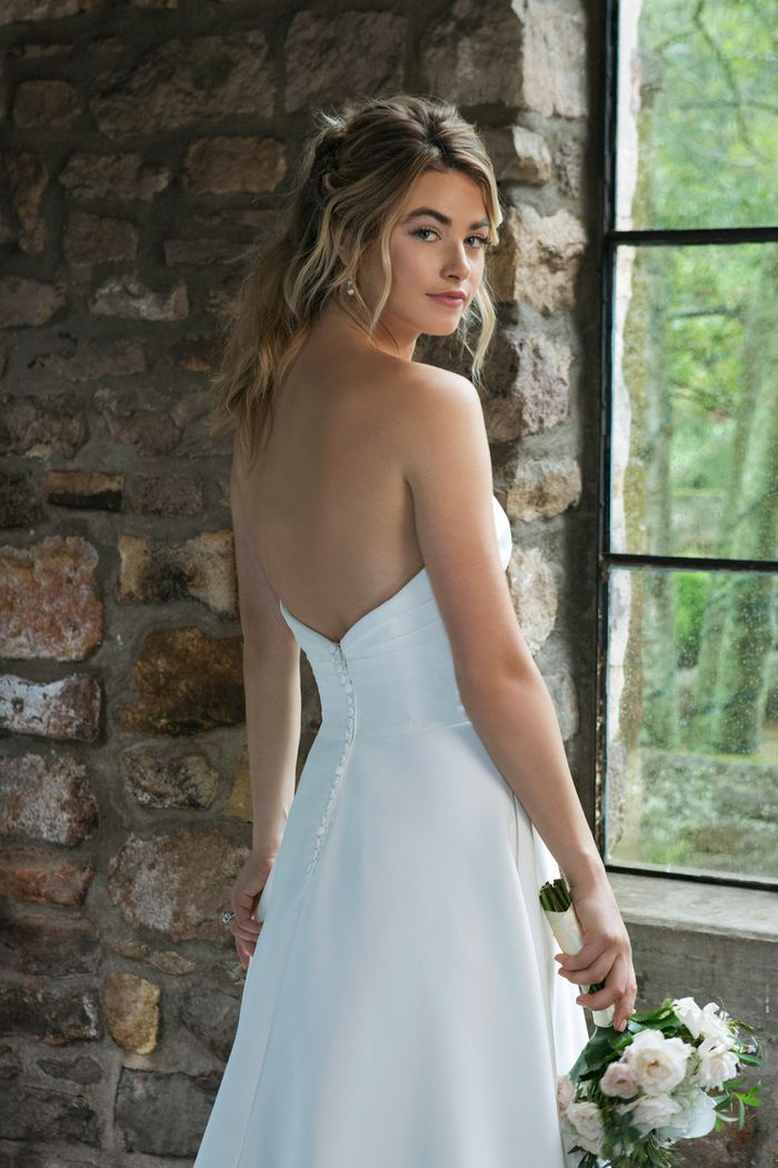 Sincerity Bridal Style 44041 Sweetheart Satin A-Line with Ruched Bodice Detail
