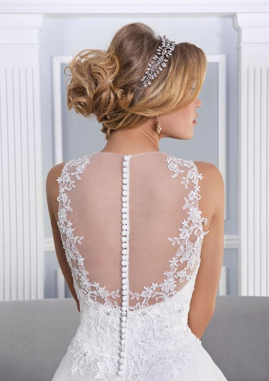 Lillian West Style 6336 Illusion Jewel Neckline Ball Gown