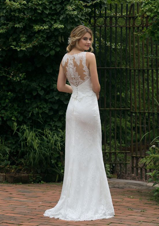 Sincerity style 44042 Allover Lace Illusion Gown with Detachable Train