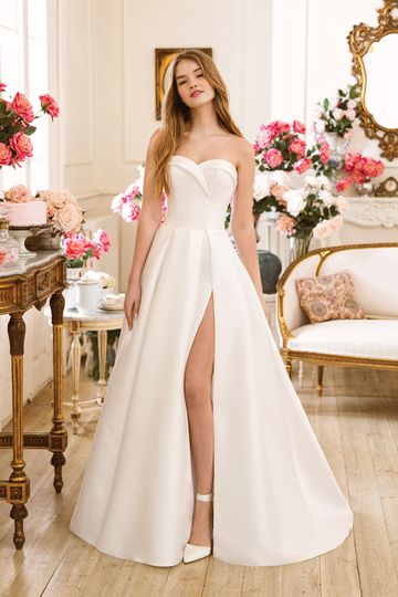 Sweetheart style 11061 Mikado Strapless Sweetheart A-line Gown