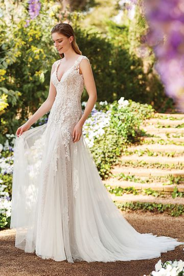 Sincerity Bridal Style 44180 Rochelle Lace Gown with Beaded Appliqués