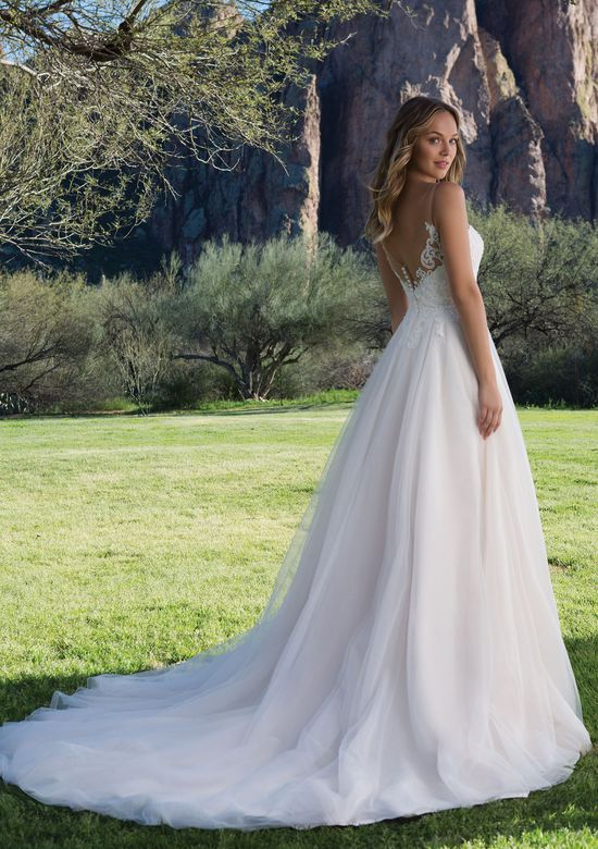 Sweetheart Gowns Tulle A-Line Gown with Scoop Lace Neckline