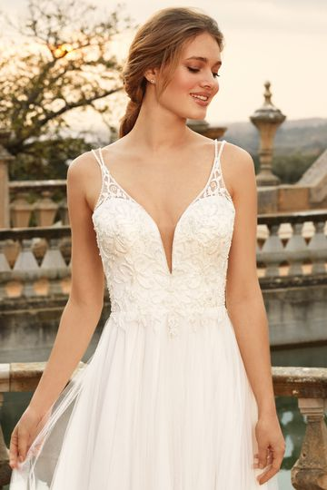 Sincerity Bridal Style 44229 A-Line Dress with Beaded Bodice and Scoop Back
