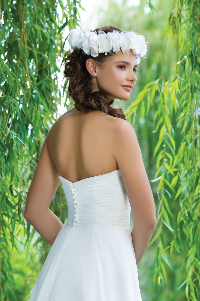 Sweetheart Gowns  Beaded Alencon lace and tulle A-line emphasized with a sweetheart neckline.