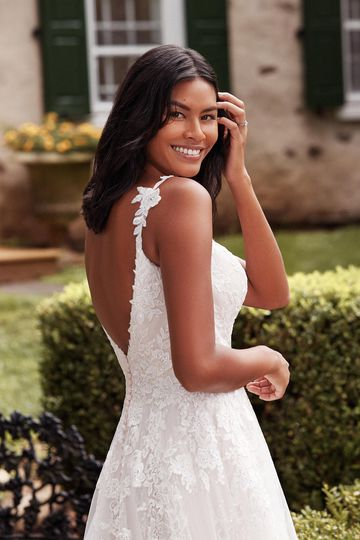 Sincerity Bridal Style 44282 Sequined Lace and Chantilly A-Line Bridal Gown with Open Back