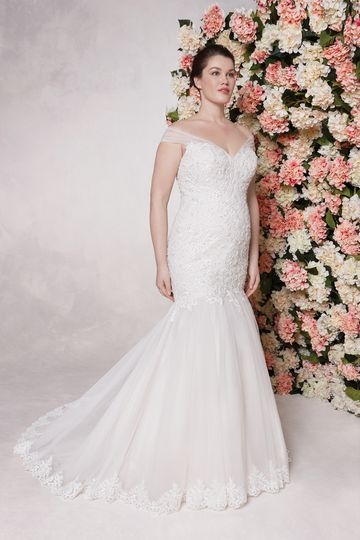Sincerity style 44148 Beaded Lace and Tulle Mermaid Gown